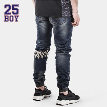 Men's Pants 25BOY HARDLY EVER'S Selvedge Denims with Print ankle Pants Premium Craft Jeans