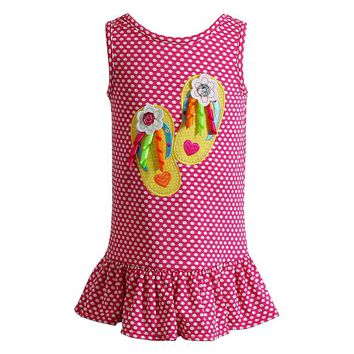 Youngland Flip-Flop Knit Dress - Baby Girl, Size: