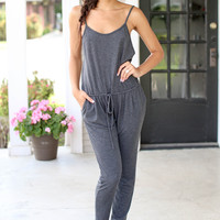 Globe Trotter Jumpsuit - Charcoal