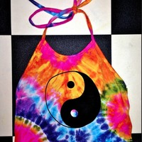 SWEET LORD O'MIGHTY! TIEDYE YINGYANG HALTER