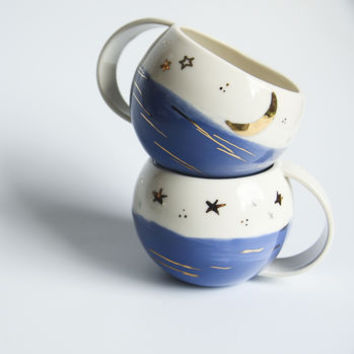 Night Sky Porcelain Cup
