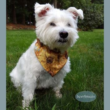 Rustic Sunflowers Dog Bandana