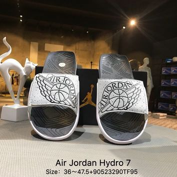 Air Jordan Hydro 7 Slide Sandals Slipper Gray - AA2517-004