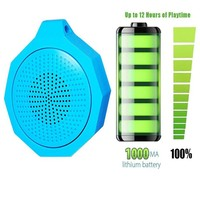 ELEGIANT Mini Outdoor Waterproof Wireless Bluetooth Speaker For Outdoor Camping Shower with Built-in Microphone