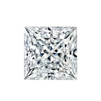 Intensely Radiant Princess Cut Square Shape Diamond Veneer Loose Stone