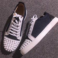 Cl Christian Louboutin Low Style #2071 Sneakers Fashion Shoes