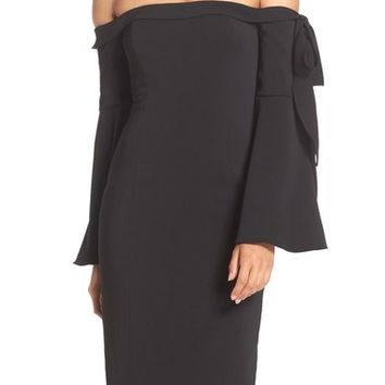 Jay Godfrey 'Phoenix' Off the Shoulder Midi Dress | Nordstrom