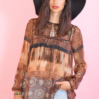Chiffon India Tunic Top