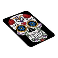 Colorful Sugar Skull Flexi Photo Magnet