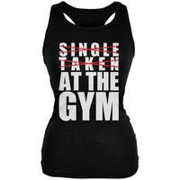 Training Single Taken At The Gym Black Juniors Soft Tank Top