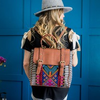 Convertible Aztec Backpack Purse