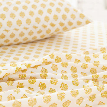 Plum & Bow Woodblock Blossom Flat Sheet - Urban Outfitters