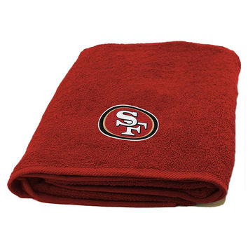 San Francisco 49ers NFL Applique Bath Towel