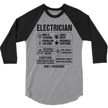 Electrician 3/4 Sleeve Shirt