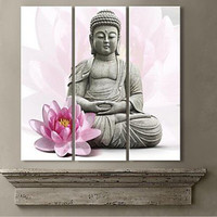 Meditation Buddha Statue Wall Art Canvas Painting