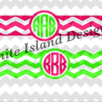 Monogram Wraps Great for personalizing phone chargers, binders, etc.