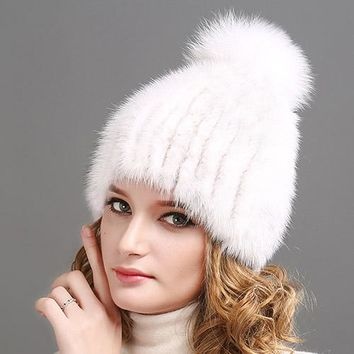 Mink Winter Fur Hat