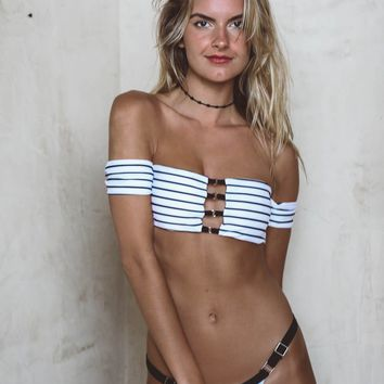 Gone For A Swim Striped Bikini