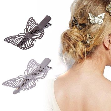 Women Lady Girl Metal Butterfly Barrette Hair Clip Hairpin Accessories Headpiece Solid Decoration 2017 Adult Newest Fashion