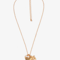 Dove & Heart Charm Necklace