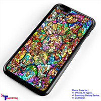 Character Disney Stained Glass Cover - Personalized iPhone 7 Case, iPhone 6/6S Plus, 5 5S SE, 7S Plus, Samsung Galaxy S5 S6 S7 S8 Case, and Other