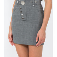 Alexander Wang High Waisted Mini Skirt - Grey Short Length Skirt