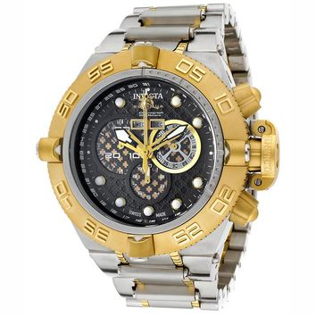 Invicta 11587 Men's Subaqua Noma IV Gold Tone Bezel Black Dial Two Tone Gold Plated Steel Chronograph Dive Watch