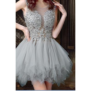FASHION GOLDEN SHINING SEQUINS RHINESTONE DRESS