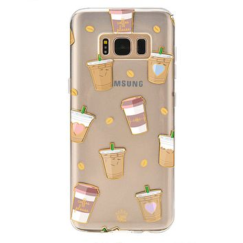 Coffee First Samsung Galaxy Clear Case