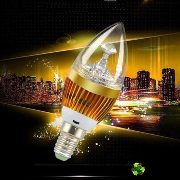 New 3W 3x1W E14 LED Candle Bulb Light Chandelier Crystal Lamp Warm/Cold White Bulb 85-265v