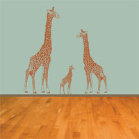 Family of Giraffes Nursery Wall Decal