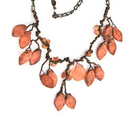 Orange - Nature Inspired Necklace - Woodland - Twisted Wire