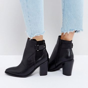 ASOS EFFINA Leather Ankle Boots at asos.com