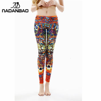 NADANBAO New Arrival Printed Women Leggings Winding Roots Leggins for Woman women pant