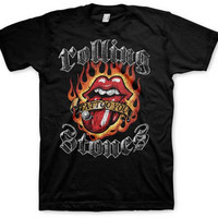 T-shirt Rolling Stones Flaming Tongue