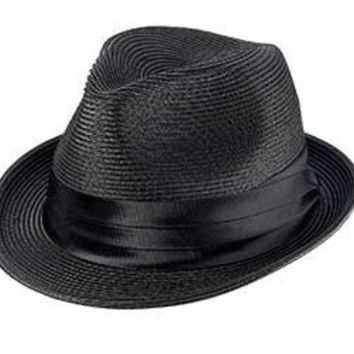 Sicily Braided Straw Fedora by Broner