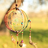 THREE RING DREAM CATCHER - Junk GYpSy co.
