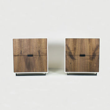 Hanks Modern Concrete Walnut or Ash Nightstand (set)