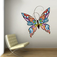 Full Color Wall Vinyl Sticker Decals Decor Art Bedroom Dorm Design Mural Butterfly Spring Paintings (col711)