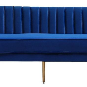 Margo Navy Velvet Sofa