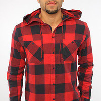 The Crazy Horse Buttondown Shirt in Red Check