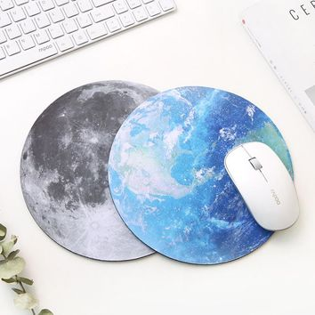 Ultra Soft Natural rubber Planet Series Round Gaming Mouse Pad Mice Mat 220x220x3mm for office work computer PC laptop notebook