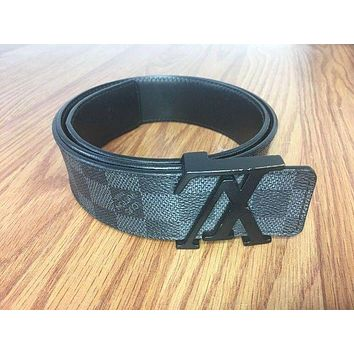 Louis Vuitton Damier Graphite Canvas LV Initiales 40 mm M9808 Size 90 cm LV belt