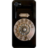 Rikki Knight Retro Rotary Telephone Black Hard Case Cover for Apple iPhone 4 & 4s Universal: Verizon - Sprint - AT&T - Unisex - Ideal Gift for all occassions: Cell Phones & Accessories