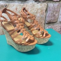 """Brown 5"""" Wedge Sandals- SHO274BR"""