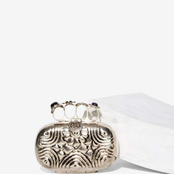 From St. Xavier Rosea Knuckle Duster Clutch