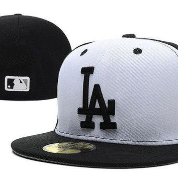 Los Angeles Dodgers New Era Mlb Authentic Collection 59fifty Cap White Black La
