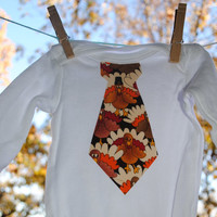 Get your little boy in the Thanksgiving Spirit - turkey tie shirt or bodysuit