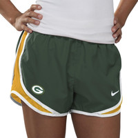 Nike Green Bay Packers Women's Tempo Performance Running Shorts - Green