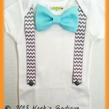 Baby Boy Coming Home Outifit - Newborn Coming Home Outfit - Babys First Outfit - Baby Coming Home Bow Tie Suspenders - Baby Hospital Outfit